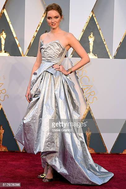 Model Lily Cole attends the 88th Annual Academy Awards at Hollywood Highland Center on February 28 2016 in Hollywood California