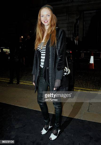 Model Lily Cole attends the A Single Man film premiere at the Curzon Mayfair on February 1 2010 in London England