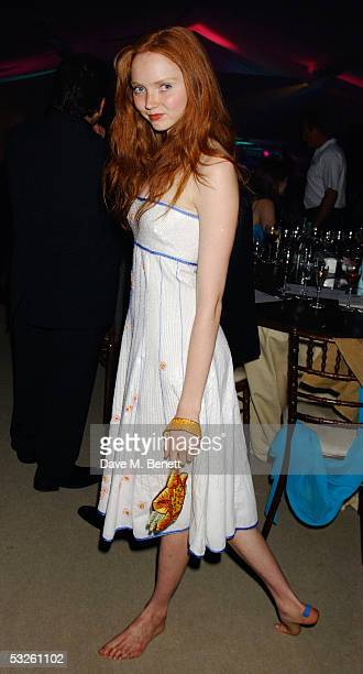 Model Lily Cole attends The Berkeley Square Ball at Berkeley Square on July 19 2005 in London England The fundraising party in aid of The Prince's...