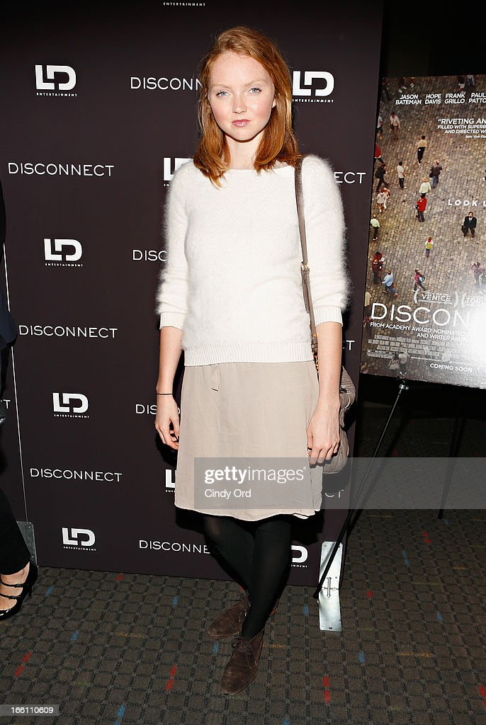 Model Lily Cole attends the 'Disconnect' New York Special Screening at SVA Theater on April 8, 2013 in New York City.