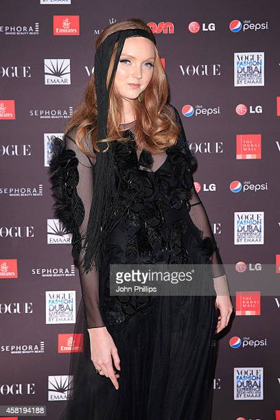 Model Lily Cole attends the Gala Event during the Vogue Fashion Dubai Experience on October 31 2014 in Dubai United Arab Emirates