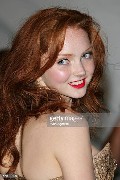 Model Lily Cole attends the Metropolitan Museum of Art Costume Institute Benefit Gala Anglomania at the Metropolitan Museum of Art May 1 2006 in New...