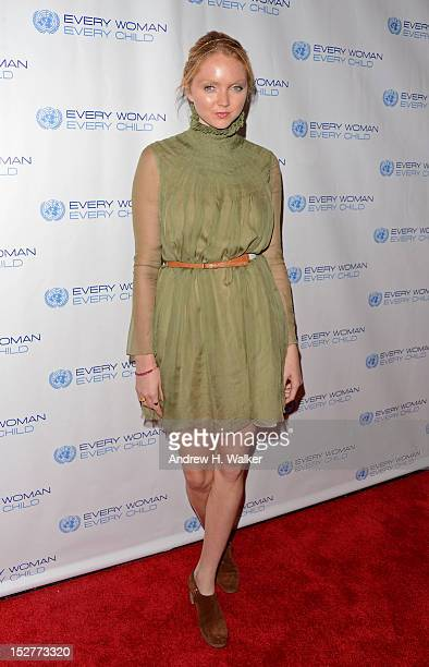 Model Lily Cole attends United Nations Every Woman Every Child Dinner 2012 on September 25 2012 in New York United States
