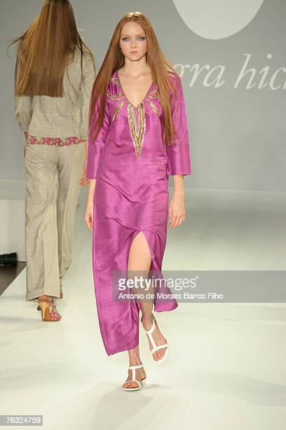Model Lily Cole wearing Allegra Hicks Spring/Summer 2007