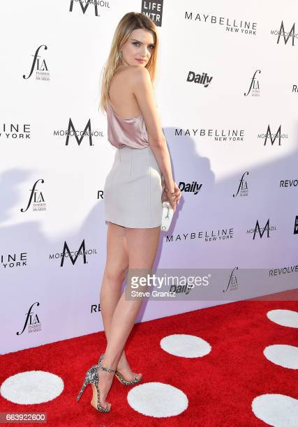 Model Lily Donaldson arrives at the Daily Front Row's 3rd Annual Fashion Los Angeles Awards on April 2 2017 in West Hollywood California