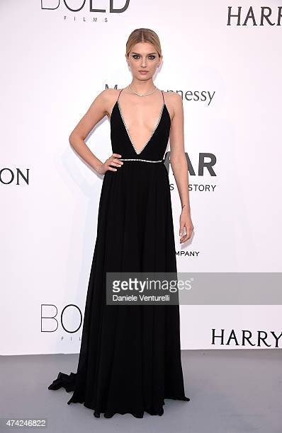 Model Lily Donaldson attends amfAR's 22nd Cinema Against AIDS Gala Presented By Bold Films And Harry Winston at Hotel du CapEdenRoc on May 21 2015 in...