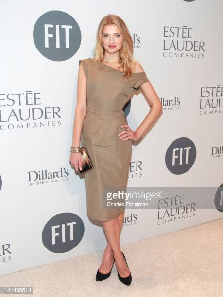 Model Lily Donaldson attends the 2012 FIT Educational Development Fund Benefit Gala at Cipriani 42nd Street on March 15 2012 in New York City