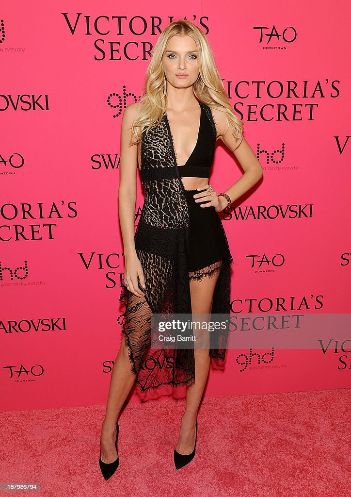 Model Lily Donaldson attends the 2013 Victoria's Secret Fashion after party at TAO Downtown on November 13, 2013 in New York City.
