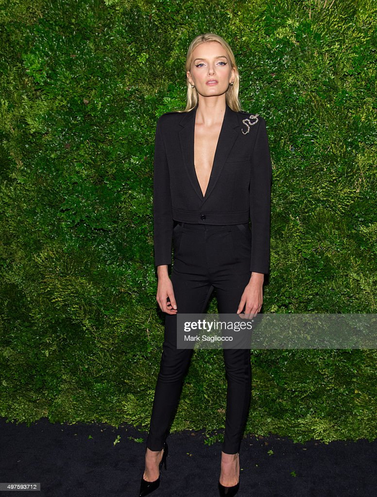 Model Lily Donaldson attends the 8th Annual Museum Of Modern Art Film Benefit Honoring Cate Blanchett on November 17, 2015 in New York City.
