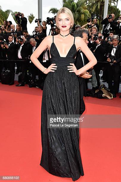 Model Lily Donaldson attends the 'Cafe Society' premiere and the Opening Night Gala during the 69th annual Cannes Film Festival at the Palais des...