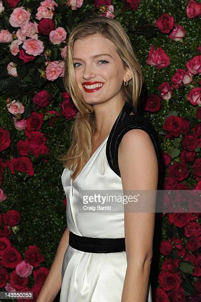Model Lily Donaldson attends the Chanel Artist Dinner during the 2012 Tribeca Film Festival at the The Odeon on April 24 2012 in New York City