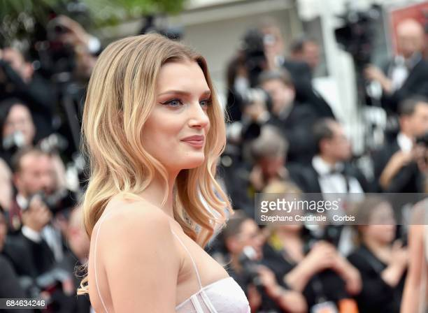 Model Lily Donaldson attends the 'Loveless ' premiere during the 70th annual Cannes Film Festival at Palais des Festivals on May 18 2017 in Cannes...