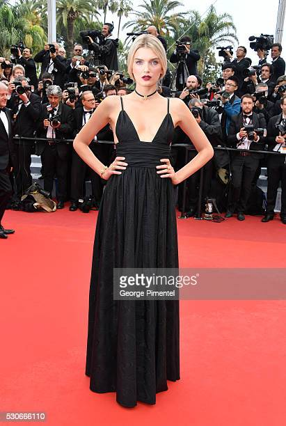 Model Lily Donaldson attends the screening of 'Cafe Society' at the opening gala of the annual 69th Cannes Film Festival at Palais des Festivals on...