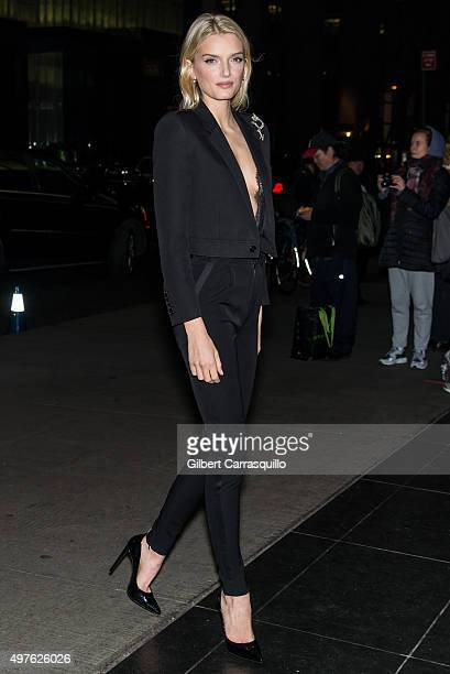 Model Lily Donaldson is seen arriving at The Museum of Modern Art's 8th Annual Film Benefit honoring Cate Blanchett at The Museum of Modern Art on...