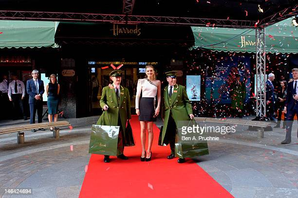 Model Lily Donaldson launches the Harrods Summer Sale at Harrods on June 16 2012 in London England