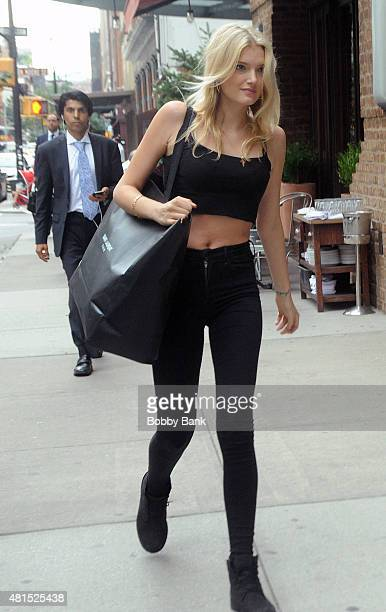 Model Lily Donaldson seen in Tribeca on July 21 2015 in New York City