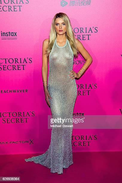 Model Lily Dondaldson attends the 2016 Victoria's Secret Fashion Show after party at Le Grand Palais on November 30 2016 in Paris France