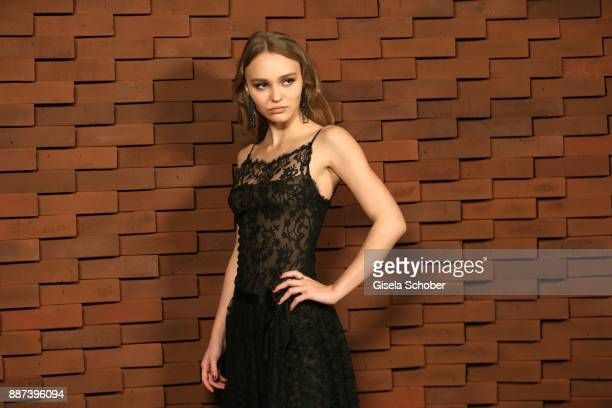 """Model Lily-Rose Depp, daughter of Johnny Depp and Vanessa Paradis during the Chanel """"Trombinoscope"""" Collection des Metiers d'Art 2017/18 photo call..."""