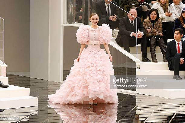 Model LilyRose Depp walks the runway in front of her mother Vanessa Paradis during the Chanel Spring Summer 2017 show as part of Paris Fashion Week...