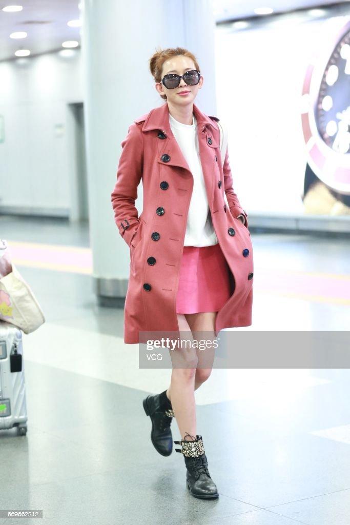 Lin Chi-ling Leaves Beijing For Shanghai