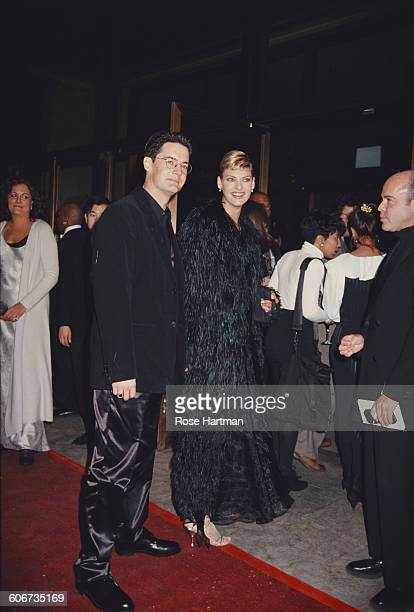 Model Linda Evangelista and actor Kyle MacLachlan during 13th Annual CFDA Awards at the Lincoln Center in New York City, New York, United States, 7th...