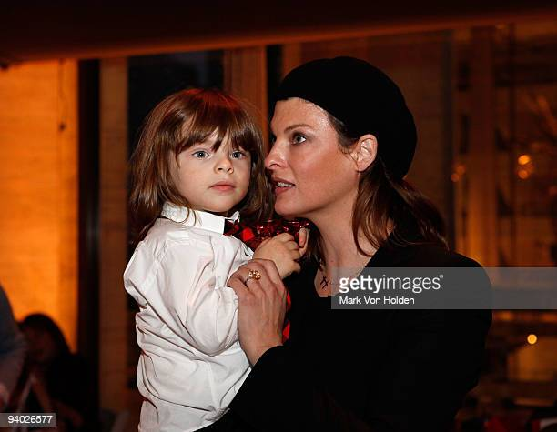 Model Linda Evangelista and her son Augie attend the New York City Ballet the School of American Ballet presentation of the Nutcracker at the David H...