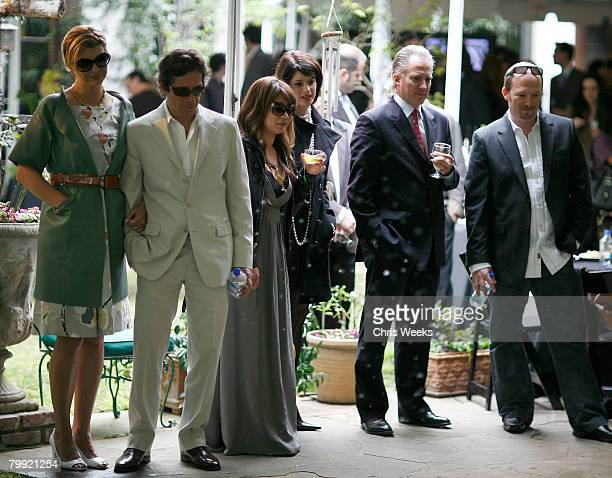 BEVERLY HILLS CA FEBRUARY 21 Model Linda Evangelista and unidentified guests attend a luncheon hosted by legendary producer Robert Evans at a private...