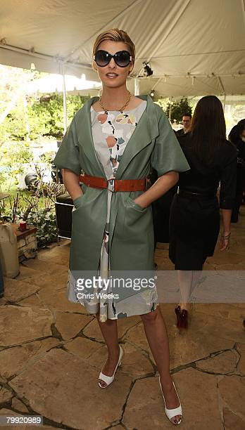 Model Linda Evangelista attends a luncheon hosted by legendary producer Robert Evans at a private residence on February 21 2008 in Beverly Hills CA