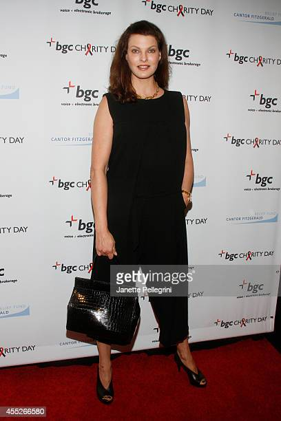 Model Linda Evangelista attends Annual Charity Day Hosted By Cantor Fitzgerald And BGC at BGC Partners INC on September 11 2014 in New York City