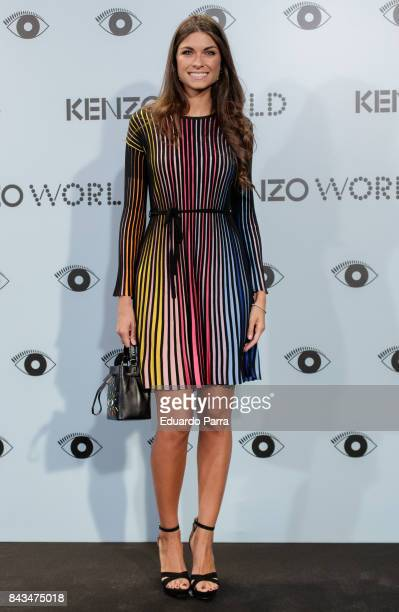 Model Linda Morselli attends the 'Kenzo summer party' photocall at Royal Theatre on September 6 2017 in Madrid Spain