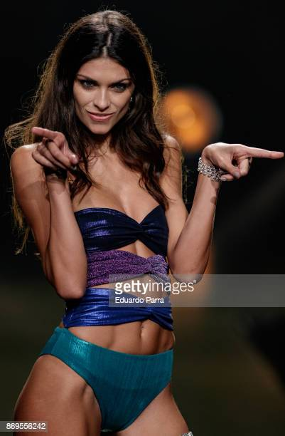 Model Linda Morselli walks the runaway during the 'Wanted' By Women'Secret' campaign presentation at La Riviera disco on November 2 2017 in Madrid...
