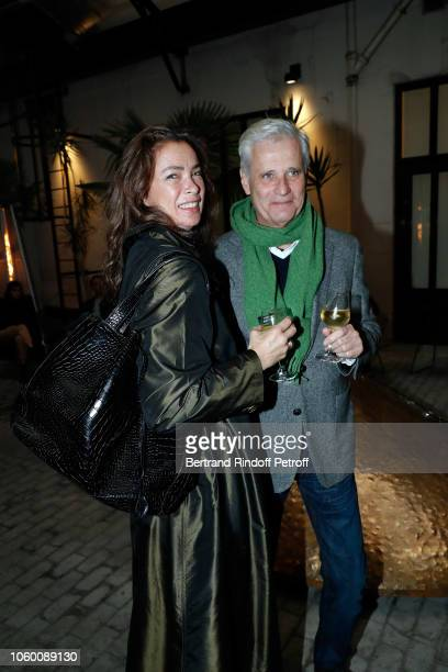 Model Linda Spierings and Pim Thomasson attend Alaia Foundation Library Opening at Galery Azzedine Alaia on November 10 2018 in Paris France