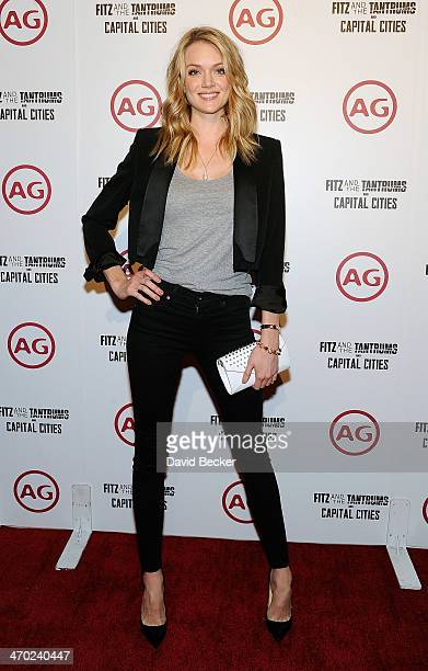 Model Lindsay Ellingson arrives at the Fitz and the Tantrum and Capital Cities concert presented by AG at The Chelsea at The Cosmopolitan of Las...