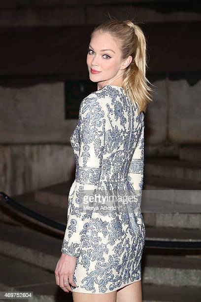 Model Lindsay Ellingson attends 2015 Tribeca Film Festival Vanity Fair party at State Supreme Courthouse on April 14 2015 in New York City