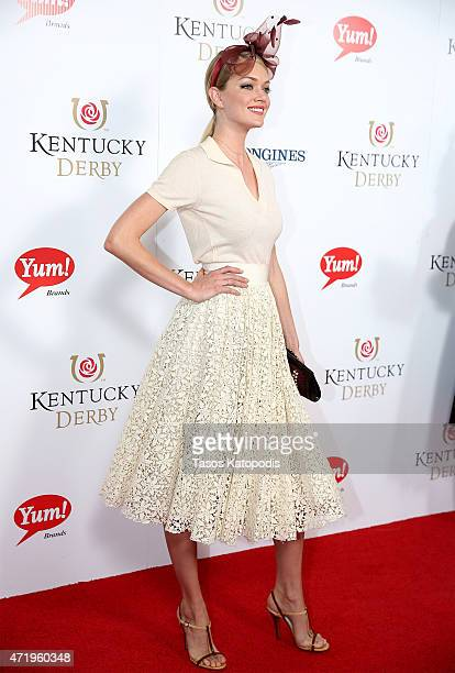 Model Lindsay Ellingson attends the 141st Kentucky Derby at Churchill Downs on May 2 2015 in Louisville Kentucky