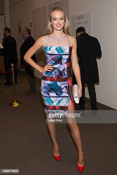 Model Lindsay Ellingson attends the 2014 Take Home A Nude Event at Sotheby's on October 9 2014 in New York City