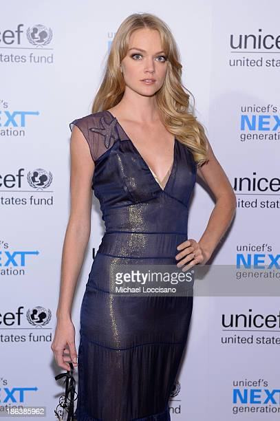 Model Lindsay Ellingson attends the 4th Annual UNICEF Masquerade Ball at Angel Orensanz Foundation on October 30 2013 in New York City