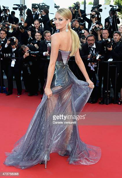 Model Lindsay Ellingson attends the Carol Premiere during the 68th annual Cannes Film Festival on May 17 2015 in Cannes France
