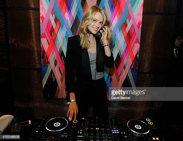 Model Lindsay Ellingson attends the Fitz and the Tantrum and Capital Cities concert presented by AG at The Chelsea at The Cosmopolitan of Las Vegas...