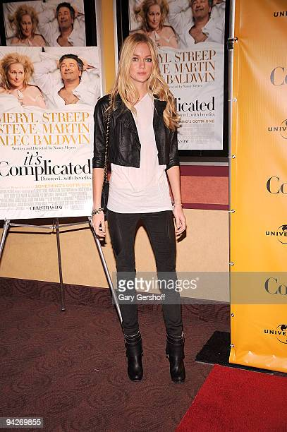Model Lindsay Ellingson attends the It's Complicated special screening at the Chelsea Clearview Cinema 9 on December 10 2009 in New York City