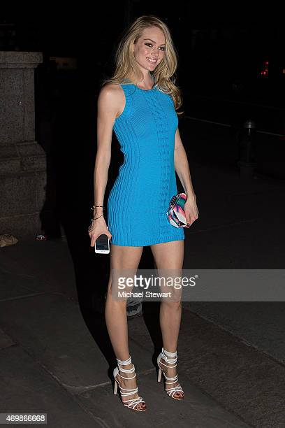 Model Lindsay Ellingson attends the Lilly Pulitzer for Target Launch at Bryant Park Grill on April 15 2015 in New York City