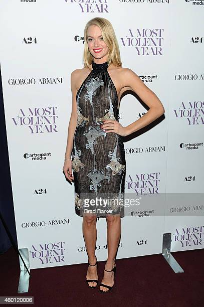 Model Lindsay Ellingson attends the New York premiere of 'A Most Violent Year' at Florence Gould Hall on December 7 2014 in New York City