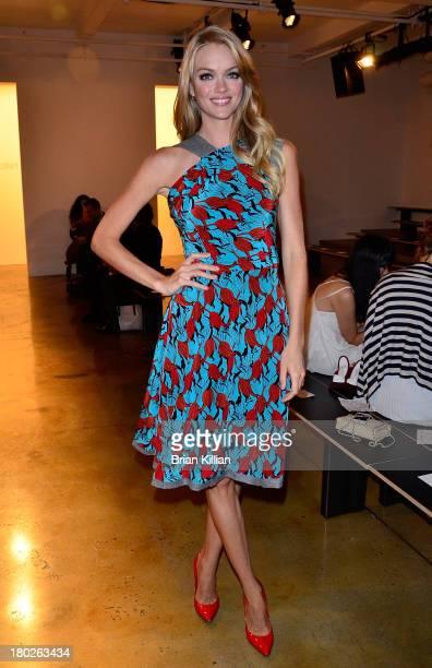 Model Lindsay Ellingson attends the Sophie Theallet show during Spring 2014 MADE Fashion Week at Milk Studios on September 10 2013 in New York City