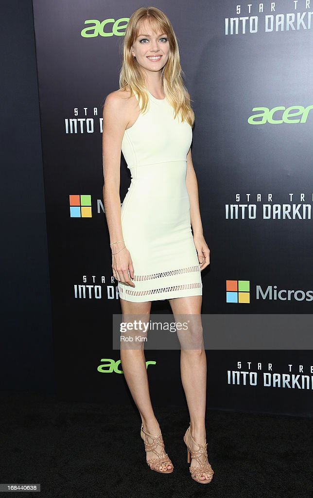 Model Lindsay Ellingson attends the 'Star Trek Into Darkness' screening at AMC Loews Lincoln Square on May 9, 2013 in New York City.