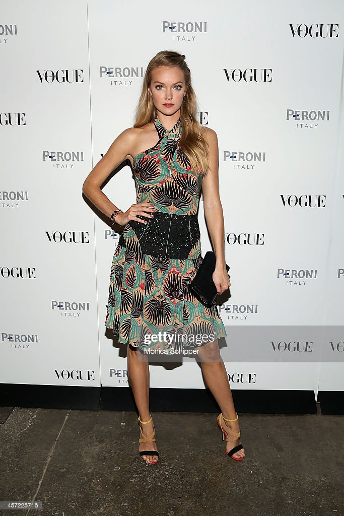 Model Lindsay Ellingson attends the Vogue Italia Opening Night Exhibition at Industria Studios on October 14, 2014 in New York City.