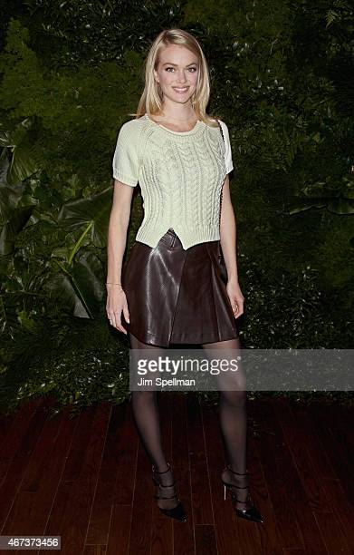 Model Lindsay Ellingson attends the Women's Brain Health Initiative launch at Urban Zen on March 23 2015 in New York City
