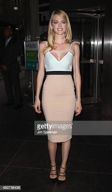 Model Lindsay Ellingson attends the Yves Saint Laurent Couture Palette The Cinema Society premiere of The Weinstein Company's Yves Saint Laurent at...