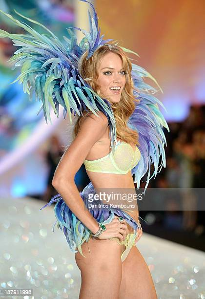Model Lindsay Ellingson walks the runway at the 2013 Victoria's Secret Fashion Show at Lexington Avenue Armory on November 13 2013 in New York City