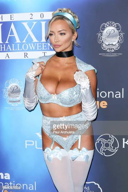 model Lindsey Pelas attends the 2017 Maxim Halloween party at Los Angeles Center Studios on October 21 2017 in Los Angeles California