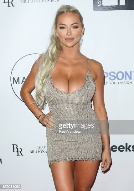 Model Lindsey Pelas attends the launch of FENTY PUMA By Rihanna A/W 2017 Collection at Madison Beverly Hills on September 27 2017 in Beverly Hills...
